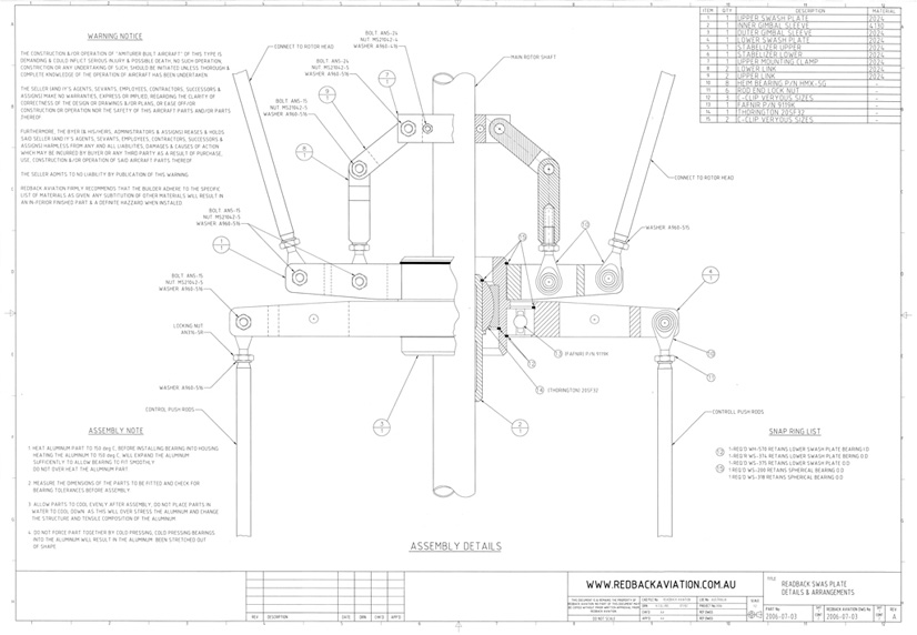Homebuilt Helicopter Swashplate Plans | Build A Helicopter